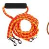 Braided Two-Dog Leash with Ergonomic Handle