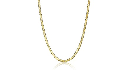 Unisex Marina Chain in Solid 14K Gold