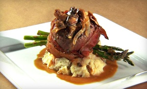 Nick's Boathouse: Seafood and Steak-House Cuisine at Nick's Boathouse (Up to 52% Off). Two Options Available.