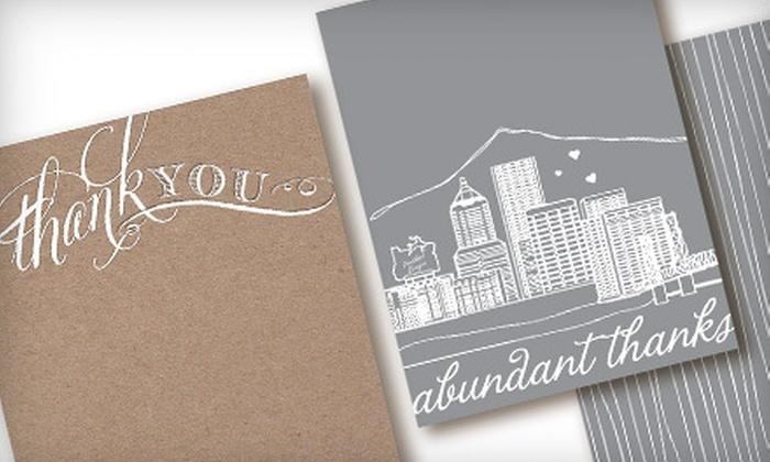 Cardgirl: 10 Letterpress or Portland Cityscape Cards from Cardgirl (Half Off)