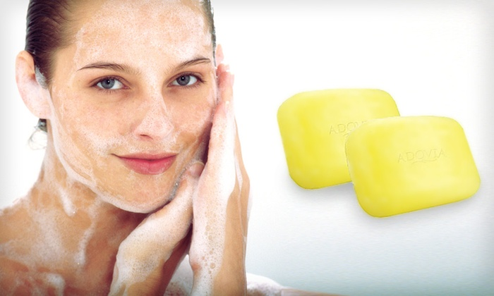 2-Pack of Adovia Natural-Sulfur Soap: $9.99 for a 2-Pack of Adovia Natural-Sulfur Soap ($18 List Price)