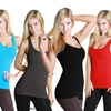 6-Pack of Ribbed Racerback Tank Tops