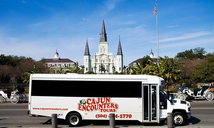 Cajun Encounters  - New Orleans: New Orleans City and Cemetery Tour for Two or Four Plus Credits Toward Swamp Tour from Cajun Encounters (58% Off)