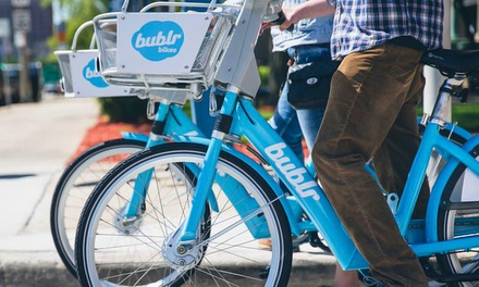 30-Day Pass for Good for Unlimited 60-Minute Trips or Bublr Bikes from Bublr Bikes (Up to 26% Off)