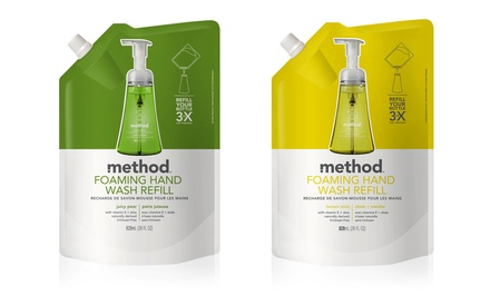 Method Foaming Hand Wash in Juicy Pear or Lemon Mint; 6-Pack of 28 fl. oz. Refills + 5% Back in Groupon Bucks