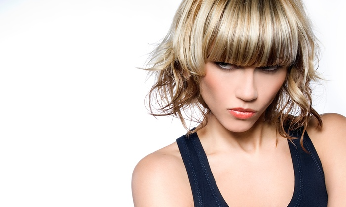 Designs by Lauren - College Hill: Haircut with Options for Full Color or Partial Highlights at Designs by Lauren (Up to 68% Off)