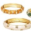 18K Gold-Plated Enamel Bangle Bracelets