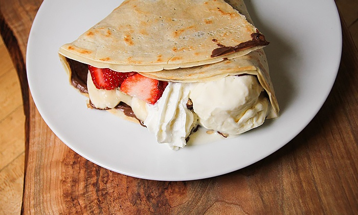 Crepe Delicious - Richmond - Richmond Centre: Crepes & Gelato at Crepe Delicious (Up to 30% Off). Two Options Available.