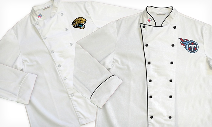NFL AFC South Classic or Premium Chef Coats: NFL AFC South Classic or Premium Chef Coats (Up to 64% Off). Multiple Teams Available. Free Shipping and Returns.