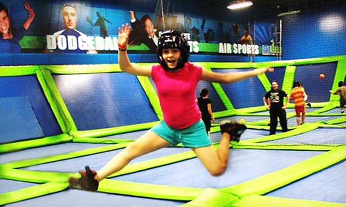 AirHeads Trampoline Arena - Multiple Locations: $24 for Four One-Hour Trampoline-Jump Passes at AirHeads Trampoline Arena (Up to $48 Value)