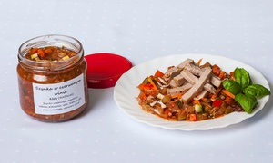 Catering SAAS: Dietetyczny catering w słoikach, 30 pozycji do wyboru: 6 słoików za 55,99 zł i więcej opcji w Catering SAAS