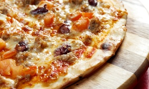 Mustafio's Pizza: $19 for a Medium, Three-Topping Pizza with Garlic Bread and Soda at Mustafio's Pizza ($29.23 Value)