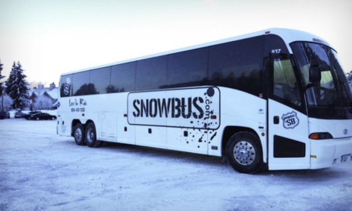 Snowbus - Multiple Locations: Transportation for Two or Four Adults from Vancouver to Whistler or Whistler to Vancouver from Snowbus (Up to 54% Off)