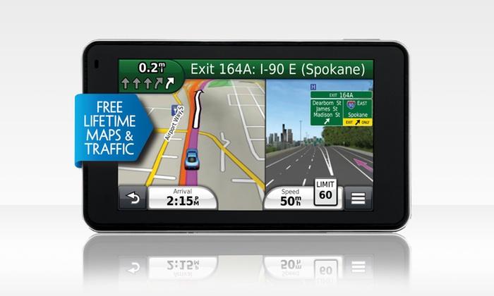"Garmin nüvi 3490LMT 4.3"" GPS with Lifetime Maps and Traffic: Garmin nüvi 3490LMT 4.3"" GPS with Lifetime Traffic andMaps (Manufacturer Refurbished). Free Returns."
