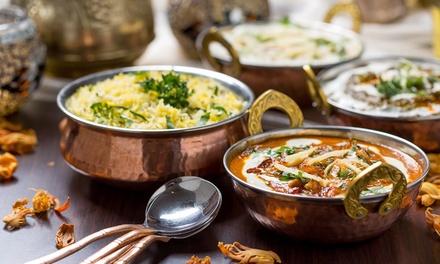 Menú hindú para 2 de L-J o V-D con aperitivo, entrante, principal, postre y bebida desde 19,95 € en Jaipur Restaurante