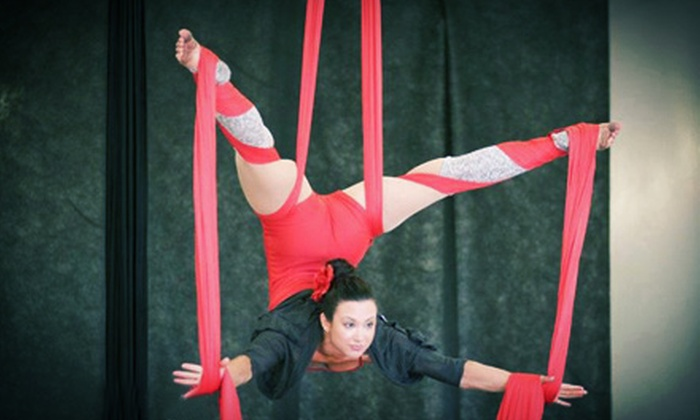 Darla's Aerial Arts - Midvale: 10 or 20 Drop-In or Two Months Unlimited Aerial Silks Classes at Darla's Aerial Arts (Up to 96% Off)
