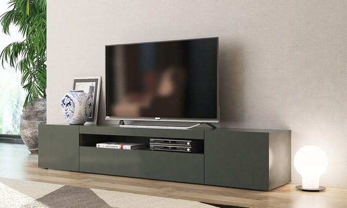 jusqu 39 58 meuble tv tecnos groupon. Black Bedroom Furniture Sets. Home Design Ideas