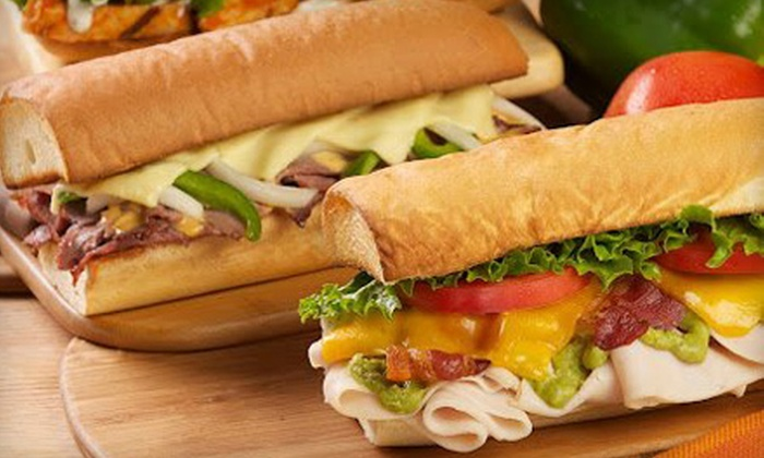Mr. Goodcents - West Omaha: Large Sub Tray with Cookies for Up to 15 or $10 for $20 Worth of Cuisine at Mr. Goodcents Subs and Pastas in West Omaha
