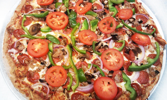 Weasel Boy Brewing Company - Zanesville: Large Two-Topping Pizza and House Salad at Weasel Boy Brewing Company (Up to 42% Off). Two Options Available.