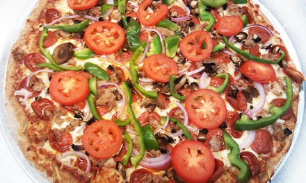 Large Two-Topping Pizza and House Salad at Weasel Boy Brewing Company (Up to 47% Off). Two Options Available.