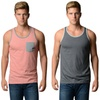Distortion Men's Solid-Color Tank Tops