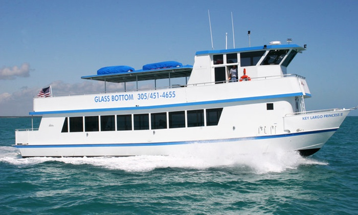 "Key Largo Princess - Key Largo Princess: $52 for a Two-Hour Glass-Bottomed-Boat Cruise for Two on the ""Key Largo Princess"" ($80 Value)"