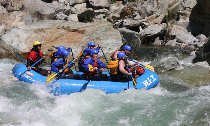 W.E.T. River Trips - North El Dorado: $65 for a One-Day Whitewater-Rafting Trip on the South Fork American River Chili Bar ($119 Value)