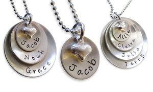 AJ's Collection: One Personalized Lucky Necklace from AJ's Collection (50% Off). Four Options Available.