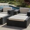 Oasis Outdoor 4-Piece Wicker Sunbrella Lounge Set