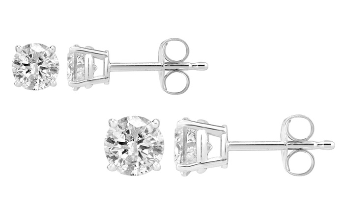 0 62 Or 1 25 Ctw Diamond Solitaire Earrings