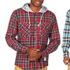 Men's Hooded Plaid-Flannel Shirts
