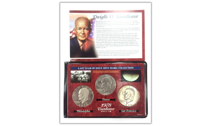 Dwight D. Eisenhower Last Year of Issue Mint Mark Collection (3-Piece)