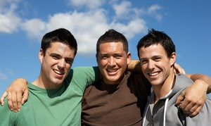 Vizion Hair Studio: $20 for Men's Haircut with Shave, Eyebrow Shaping, and Hot Towels at Vizion Hair Studio ($35 Value)