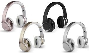 DJ SOUND Twist-Out Bluetooth Headphones with Speakers