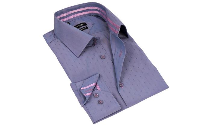 Rosso Milano Men's Modern-Fit Dress Shirt : Rosso Milano Men's Modern-Fit Dress Shirt (Size 3XL)