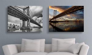 Printerpix: Toile panoramique XL personnalisée, dimensions au choix dès 14,99 €