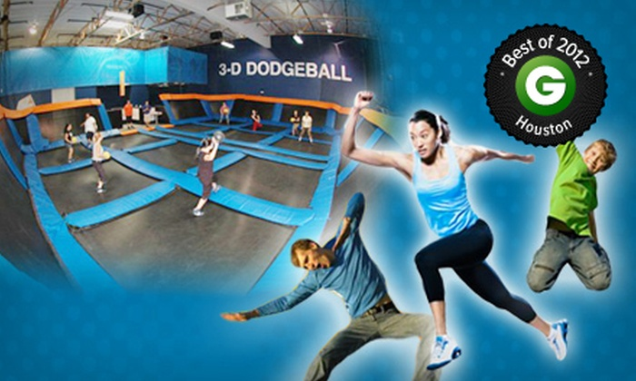 Sky Zone - Houston: Two Indoor Trampoline Jump Sessions with Shoe Rentals Monday–Thursday or Friday–Sunday at Sky Zone (Up to Half Off)