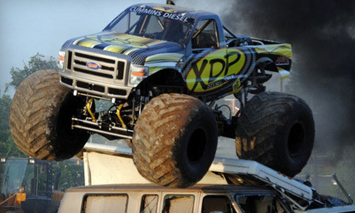 KSR Motorsports' Monster Truck Thrill Show - LULU Shriners Arena: One or Four Tickets to KSR Motorsports' Monster Truck Thrill Show at LuLu Shriners Arena on May 24 or 25 (Up to 55% Off)