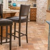 Mayfield Fabric or Bonded-Leather Barstools (Set of 2)
