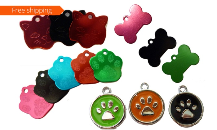 Doggy Paws: Personalised Engraved Pet ID Tags - Two ($14) or Three Tags ($19) (Don't Pay up to $85.86)