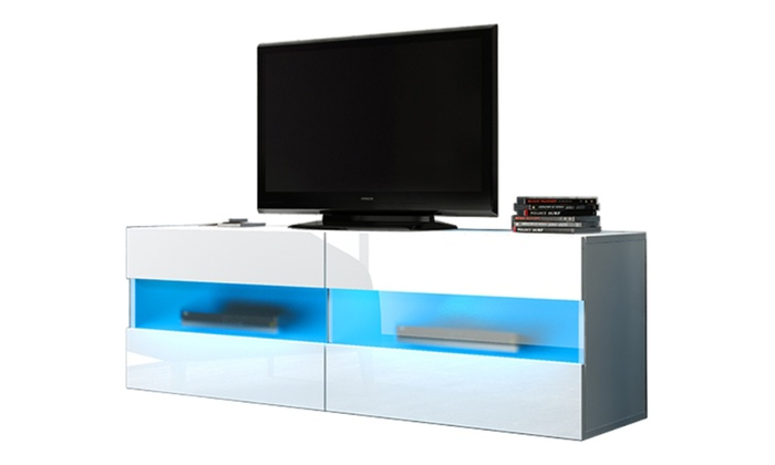 meuble tv flottant groupon. Black Bedroom Furniture Sets. Home Design Ideas