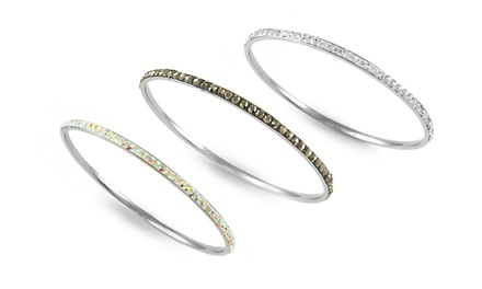 Crystal Bangles with Swarovski Elements