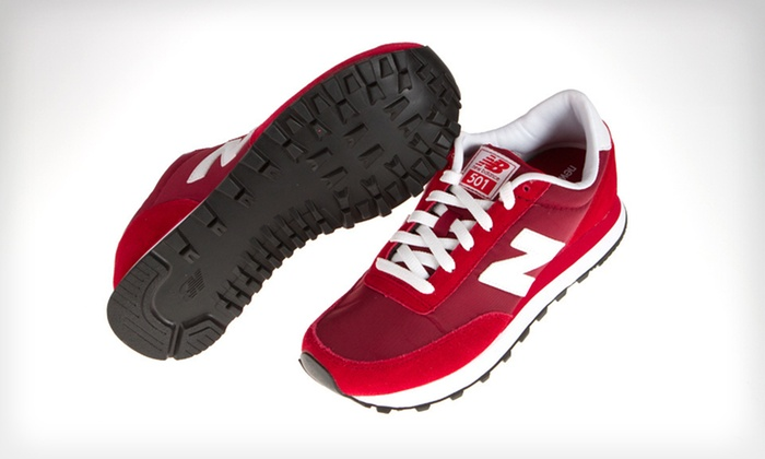 New Balance Women's 501 Sneakers: $39 for New Balance Women's 501 Sneakers in Red and White with Shipping Included ($61.94 Total Value). Five Sizes.