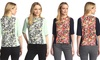 YAL New York Women's Short-Sleeve Printed Woven Top