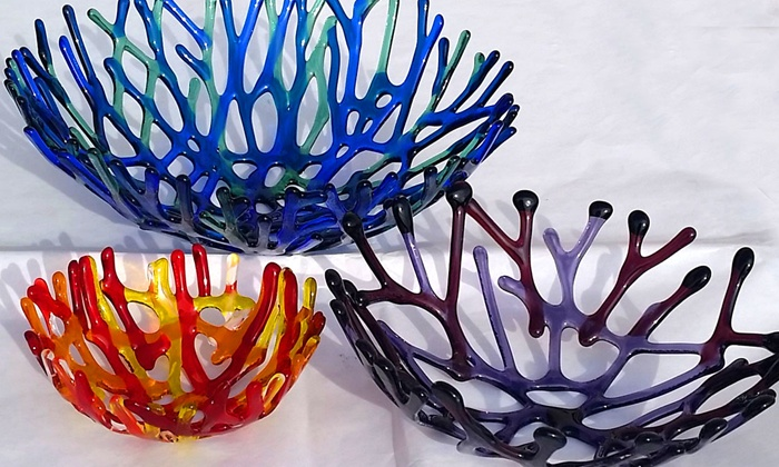 Bella Glass Studios - North Denver: Coral Bowl Glass Fusing Class for One or Two at Bella Glass Studios (Up to 42% Off)
