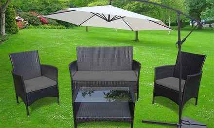 salon de jardin parasol d port groupon shopping. Black Bedroom Furniture Sets. Home Design Ideas