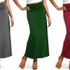 Women's Cotton Fold-Over Maxi Skirts (3-Pack) (Size S)