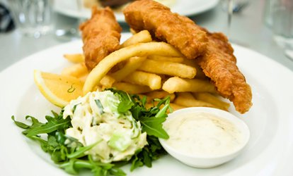 image for Fish and Chips for Two or Four at The Brasserie Fish and Grill (Up to 60% Off)