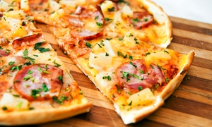 Nice Pizza: $18 for Pizza Meal for Two with Wine at Nice Pizza (Up to $45 Total Value)