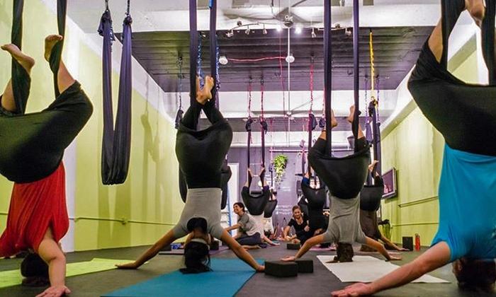 Aerial Yoga Houston - Washington Avenue - Memorial Park: One, Three, or Five Aerial Yoga Classes at Aerial Yoga Houston (Up to 58% Off)